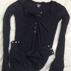 Long sleeved bodysuit button down shirt from Aerie